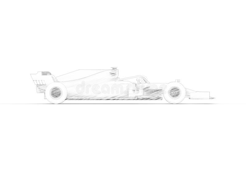 τρισδιάστατη δίνοντας απεικόνιση με ενός σύγχρονου όλο το μαύρο σπορ αυτοκίνητο φυλών διανυσματική απεικόνιση