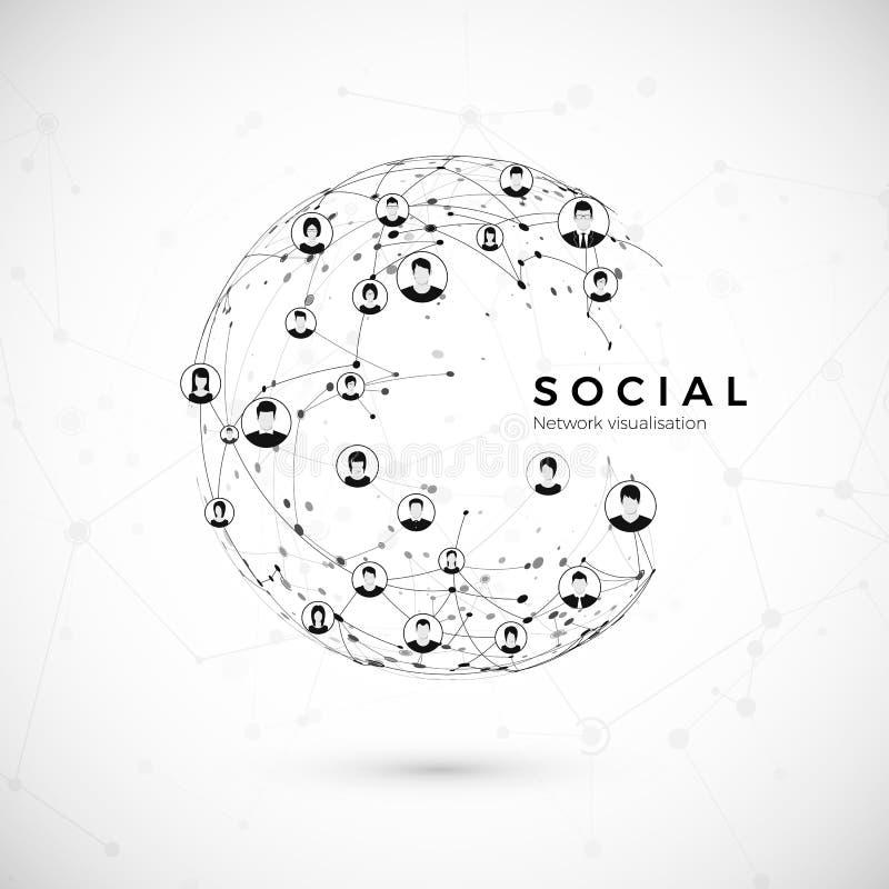 τρισδιάστατη εικόνα δικτύων που καθίσταται κοινωνική Δομή της σύνδεσης σφαιρών ευρύς κόσμος Ιστού έννοια επίσης corel σύρετε το δ διανυσματική απεικόνιση