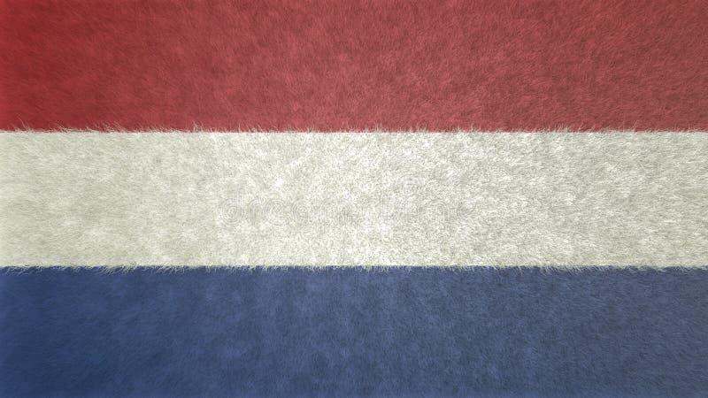τρισδιάστατη εικόνα της σημαίας των Κάτω Χωρών απεικόνιση αποθεμάτων