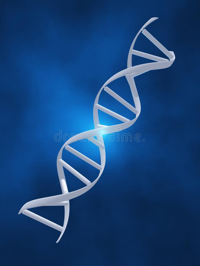 τρισδιάστατη εικόνα DNA που δίνεται το σκέλος απεικόνιση αποθεμάτων