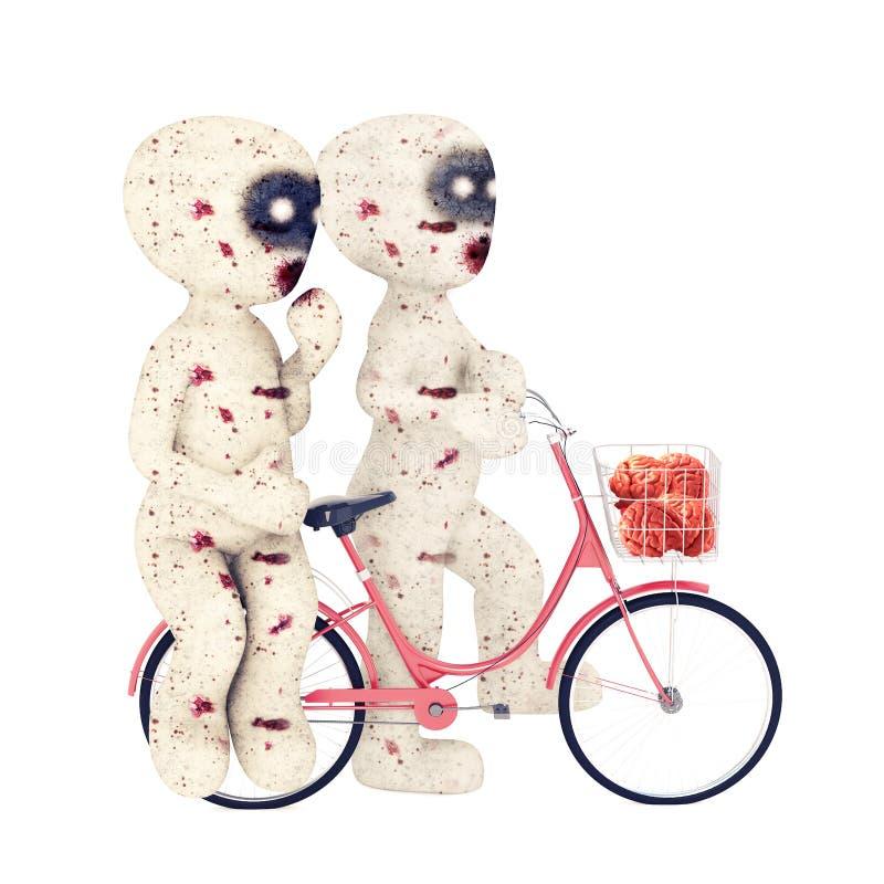 τρισδιάστατη ερωτευμένη απεικόνιση Zombie ατόμων στοκ φωτογραφία