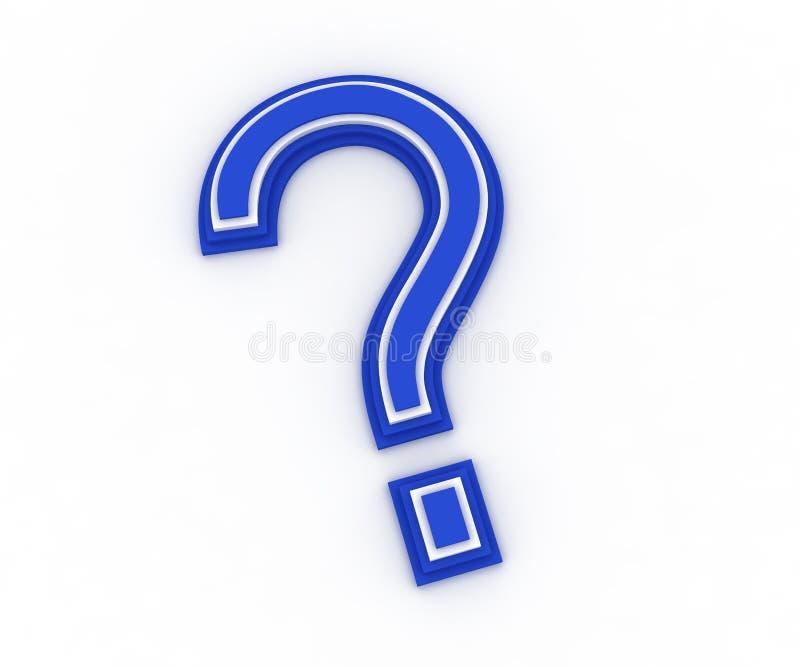 τρισδιάστατη ερώτηση σημαδιών απεικόνιση αποθεμάτων