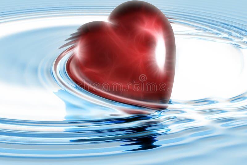 τρισδιάστατη καρδιά διανυσματική απεικόνιση