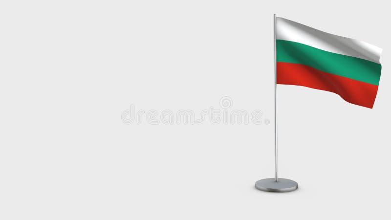 Τρισδιάστατη κυματίζοντας απεικόνιση σημαιών της Βουλγαρίας διανυσματική απεικόνιση