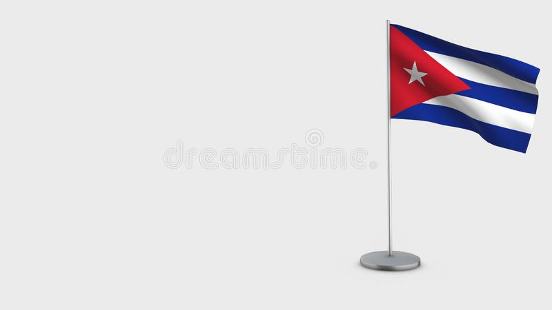 Τρισδιάστατη κυματίζοντας απεικόνιση σημαιών της Κούβας ελεύθερη απεικόνιση δικαιώματος