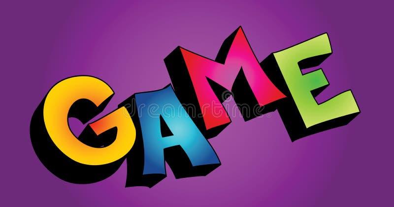 τρισδιάστατη λέξη παιχνιδ&iota απεικόνιση αποθεμάτων