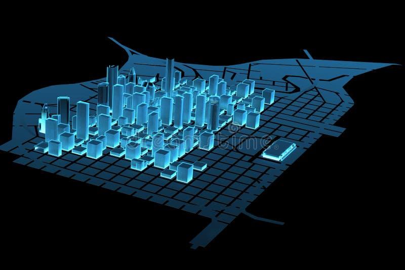 τρισδιάστατη μεγάλη μπλε & διανυσματική απεικόνιση