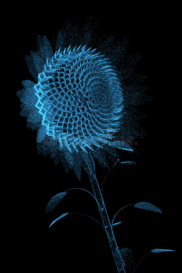 τρισδιάστατη μπλε ακτίνα X &e ελεύθερη απεικόνιση δικαιώματος