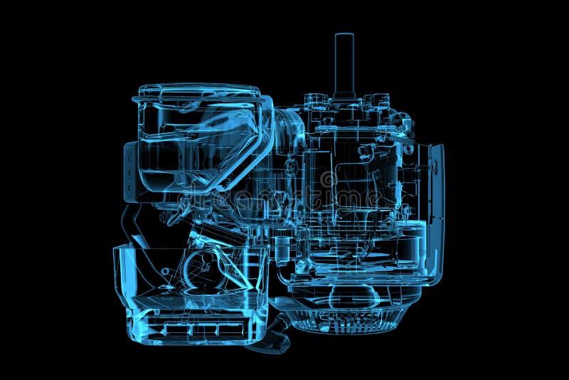 τρισδιάστατη μπλε ακτίνα X &m διανυσματική απεικόνιση