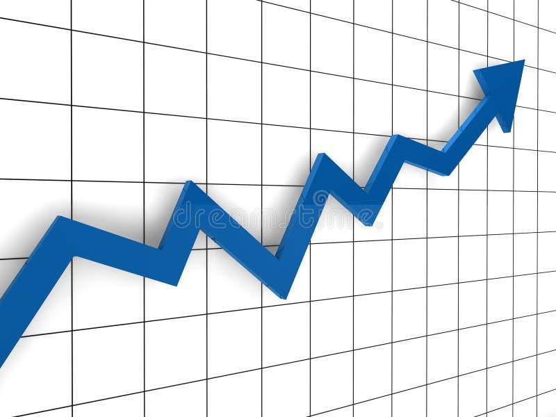 τρισδιάστατη μπλε γραφικ απεικόνιση αποθεμάτων