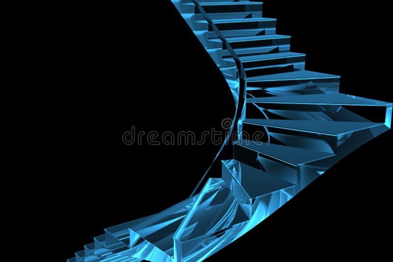 τρισδιάστατη μπλε διαφανή ελεύθερη απεικόνιση δικαιώματος