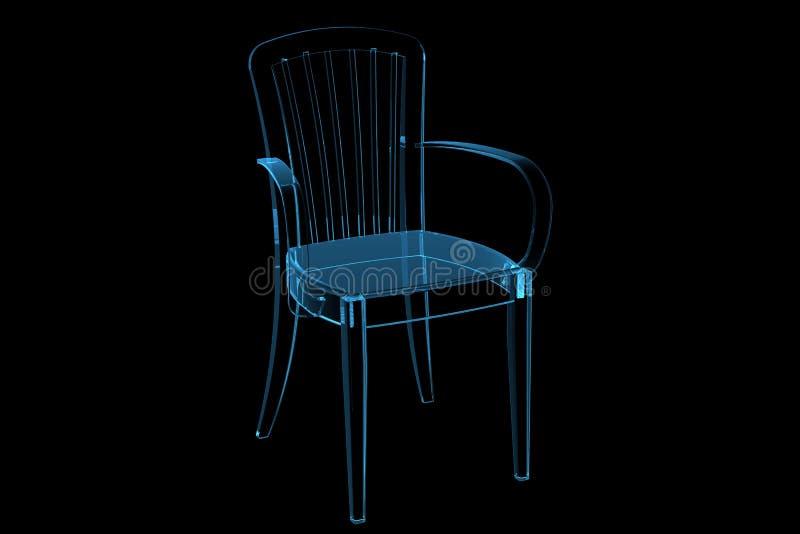 τρισδιάστατη μπλε διαφανή απεικόνιση αποθεμάτων