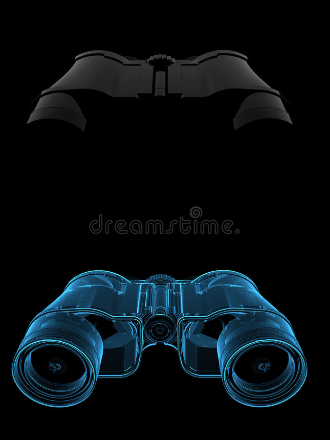 τρισδιάστατη μπλε διαφαν απεικόνιση αποθεμάτων