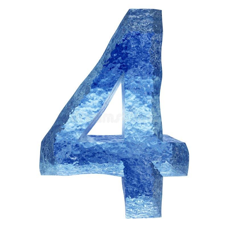 τρισδιάστατη μπλε πηγή νερού ή πάγου ελεύθερη απεικόνιση δικαιώματος