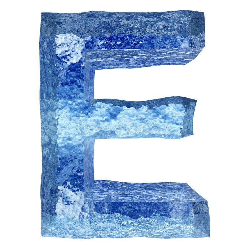 τρισδιάστατη μπλε πηγή νερού ή πάγου απεικόνιση αποθεμάτων