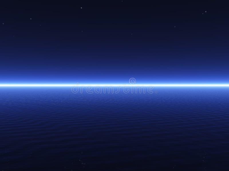 τρισδιάστατη μπλε σκοτεινή θάλασσα στοκ εικόνα