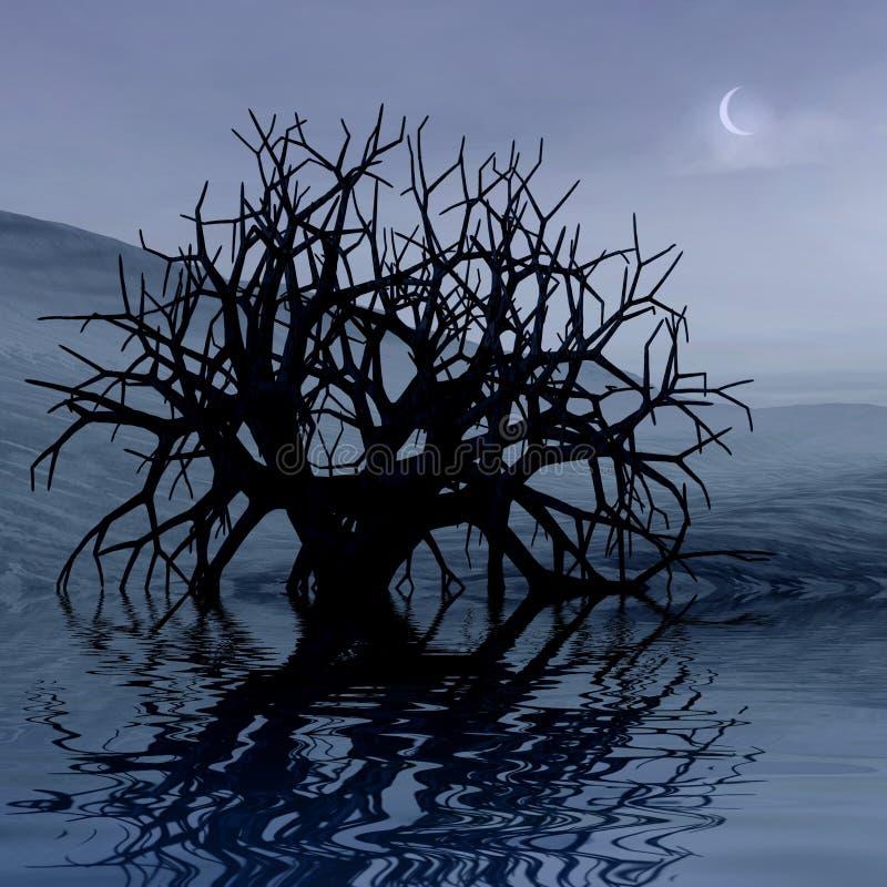 τρισδιάστατη νύχτα τοπίων γ&r διανυσματική απεικόνιση