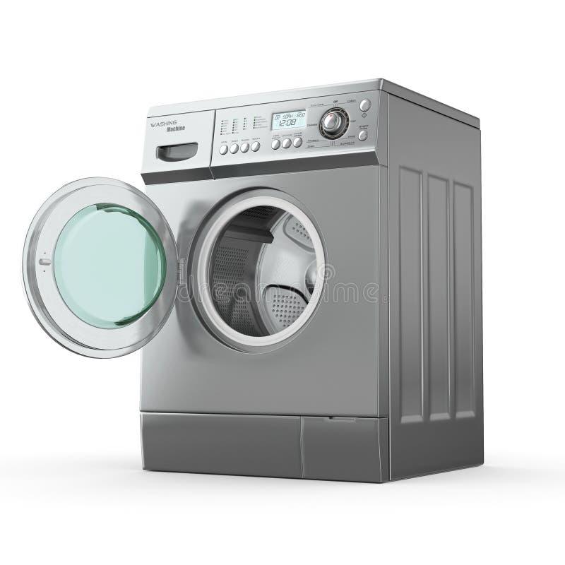 τρισδιάστατη πλύση μηχανών διανυσματική απεικόνιση