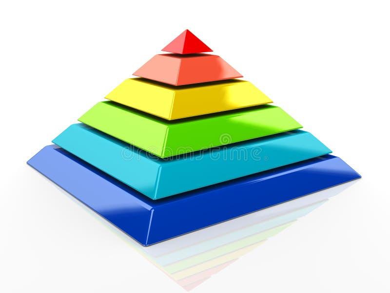 τρισδιάστατη πυραμίδα διανυσματική απεικόνιση