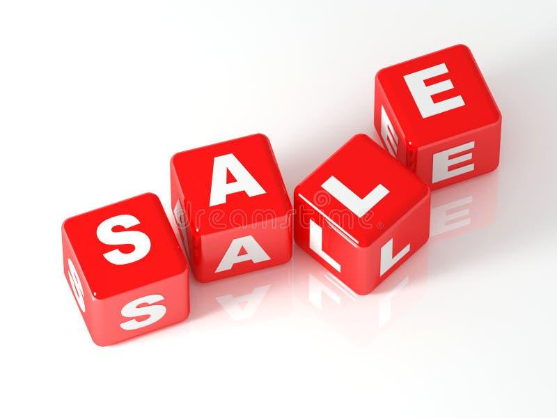 τρισδιάστατη πώληση κύβων απεικόνιση αποθεμάτων
