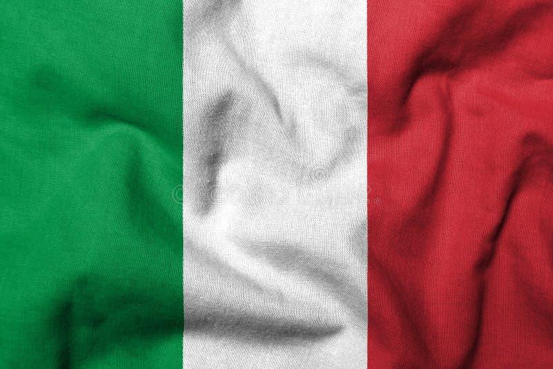 τρισδιάστατη σημαία Ιταλί&alp στοκ εικόνες με δικαίωμα ελεύθερης χρήσης