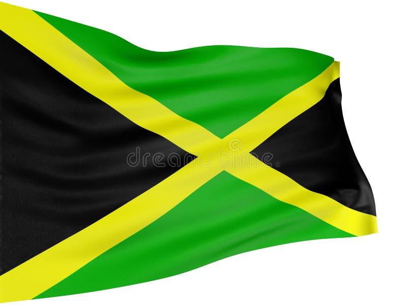 τρισδιάστατη σημαία τζαμαϊ& απεικόνιση αποθεμάτων