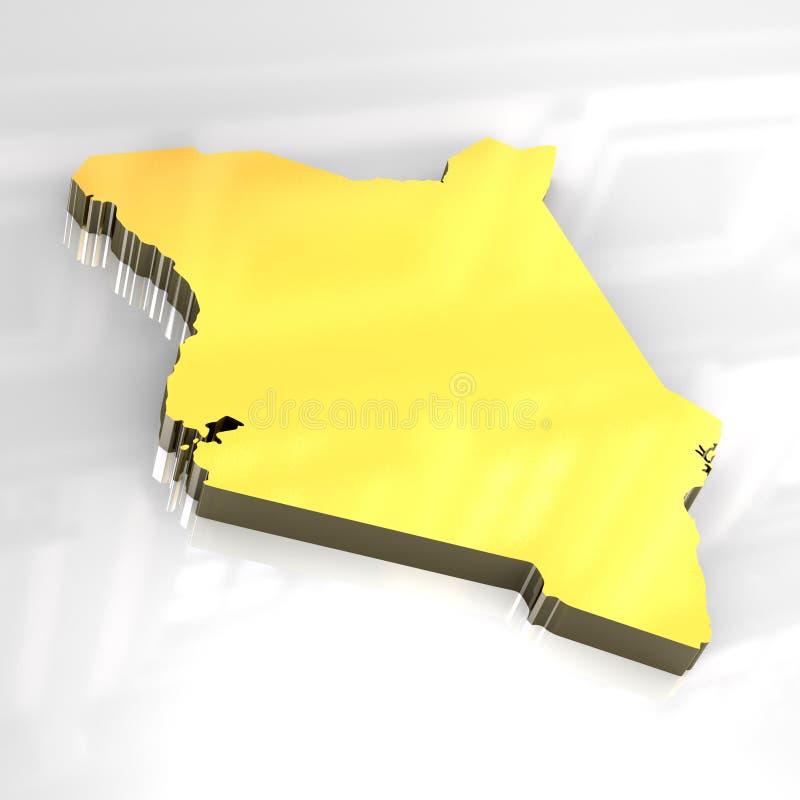 τρισδιάστατη σημαία χρυσή &Ka απεικόνιση αποθεμάτων