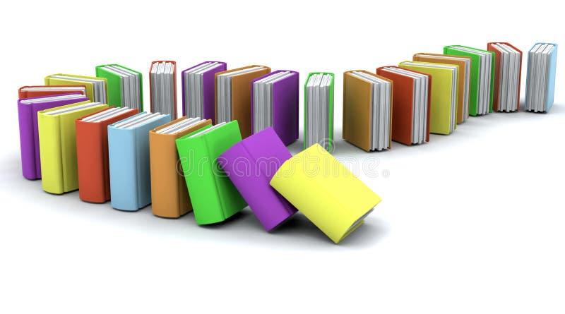 τρισδιάστατη στοίβα βιβλίων απεικόνιση αποθεμάτων