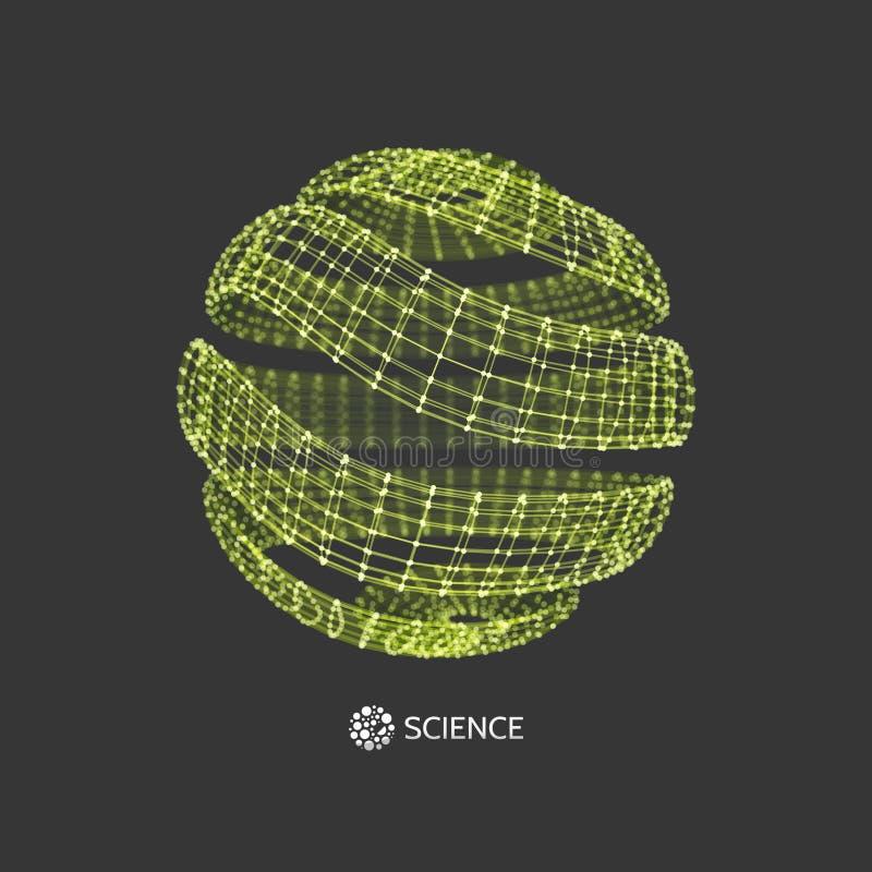 τρισδιάστατη σφαίρα Σφαιρικές ψηφιακές συνδέσεις απομονωμένο έννοια λευκό τεχνολογίας Vecto ελεύθερη απεικόνιση δικαιώματος