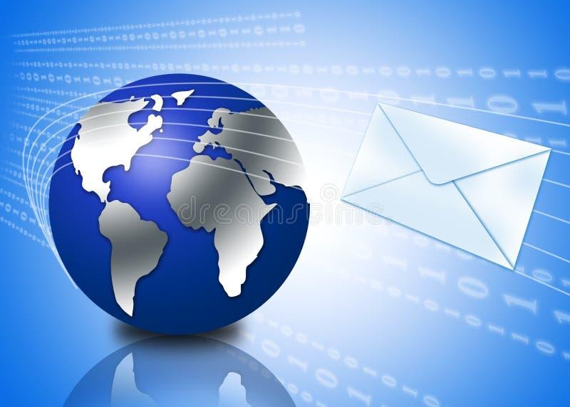 τρισδιάστατη σφαίρα φακέλων ηλεκτρονικού ταχυδρομείου απεικόνιση αποθεμάτων