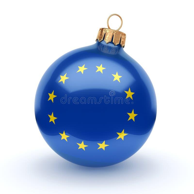 τρισδιάστατη σφαίρα Χριστουγέννων απόδοσης απεικόνιση αποθεμάτων