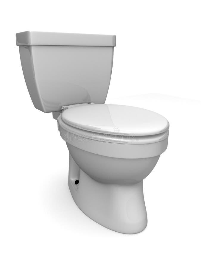 τρισδιάστατη τουαλέτα διανυσματική απεικόνιση
