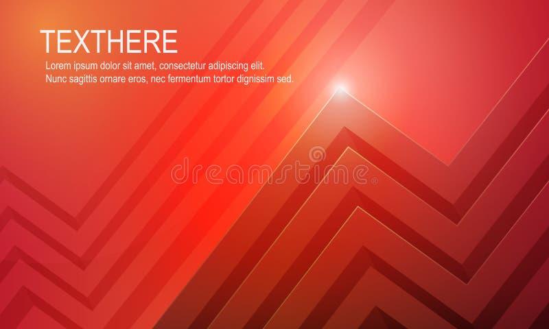 τρισδιάστατη φωτεινή κόκκινη ζωηρή διανυσματική απεικόνιση υποβάθρου ελεύθερη απεικόνιση δικαιώματος