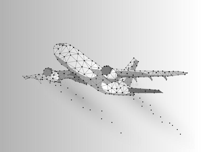 Τρισδιάστατη χαμηλή πολυ αφηρημένη απεικόνιση αερογραμμών Διανυσματική έννοια ψηφίων Origami wireframe χρυσή ιδιοκτησία βασικών π απεικόνιση αποθεμάτων