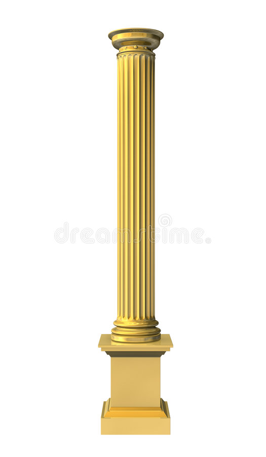 τρισδιάστατη χρυσή απεικόνιση στηλών που δίνεται διανυσματική απεικόνιση