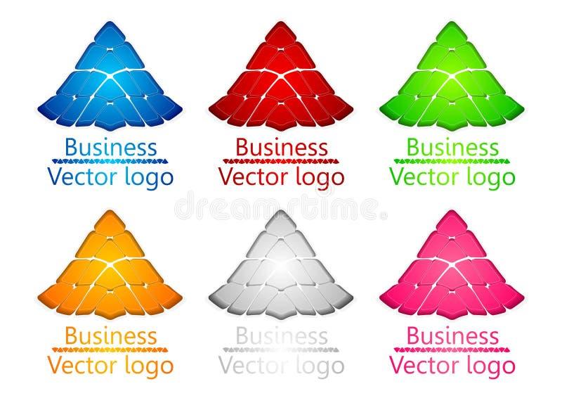 τρισδιάστατη χρωματισμένη χελώνα ασπίδων λογότυπων ελεύθερη απεικόνιση δικαιώματος