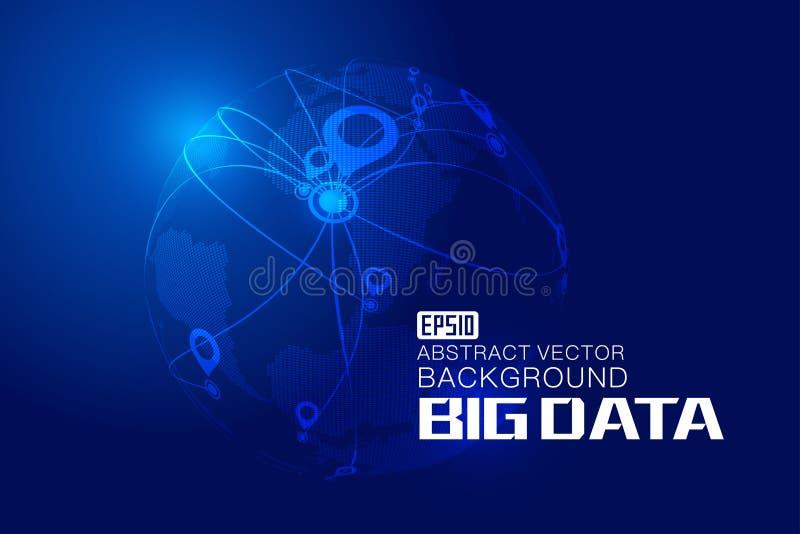 τρισδιάστατη ψηφιακή γη και προσδιορισμού θέσης και ναυσιπλοΐας ΠΣΤ σύστημα, παγκόσμια μεγάλα στοιχεία, παγκοσμιοποίηση, διεθνοπο απεικόνιση αποθεμάτων