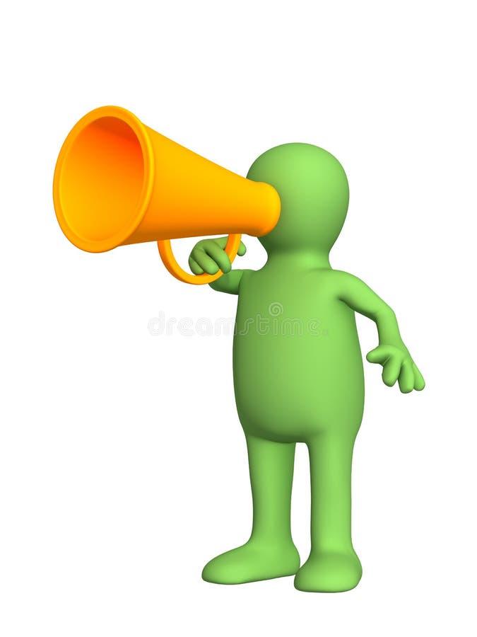 τρισδιάστατη megaphone πορτοκα&lambda διανυσματική απεικόνιση
