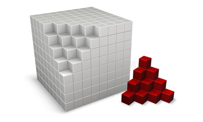 τρισδιάστατοι κύβοι ελεύθερη απεικόνιση δικαιώματος