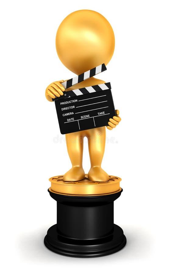 τρισδιάστατοι λευκοί άνθρωποι Oscar απεικόνιση αποθεμάτων