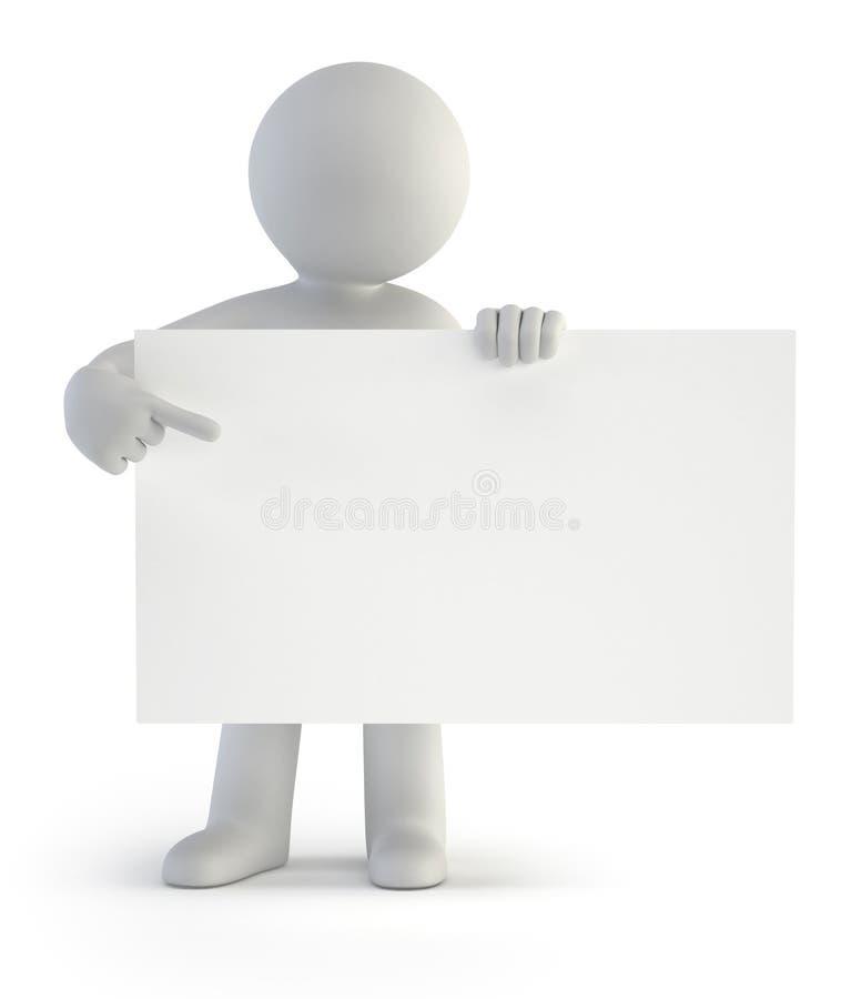 τρισδιάστατοι μικροί άνθρωποι - το κενό χαρτόνι σας απεικόνιση αποθεμάτων