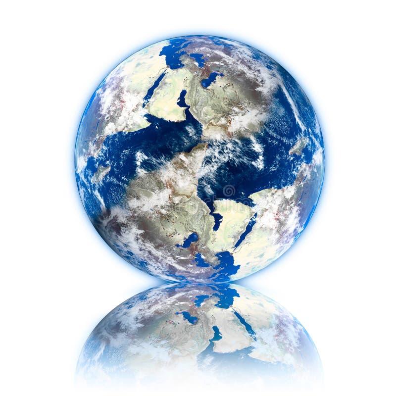 τρισδιάστατος γήινος πλανήτης ελεύθερη απεικόνιση δικαιώματος