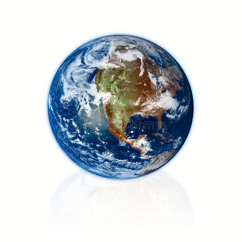 τρισδιάστατος γήινος πλανήτης απεικόνιση αποθεμάτων