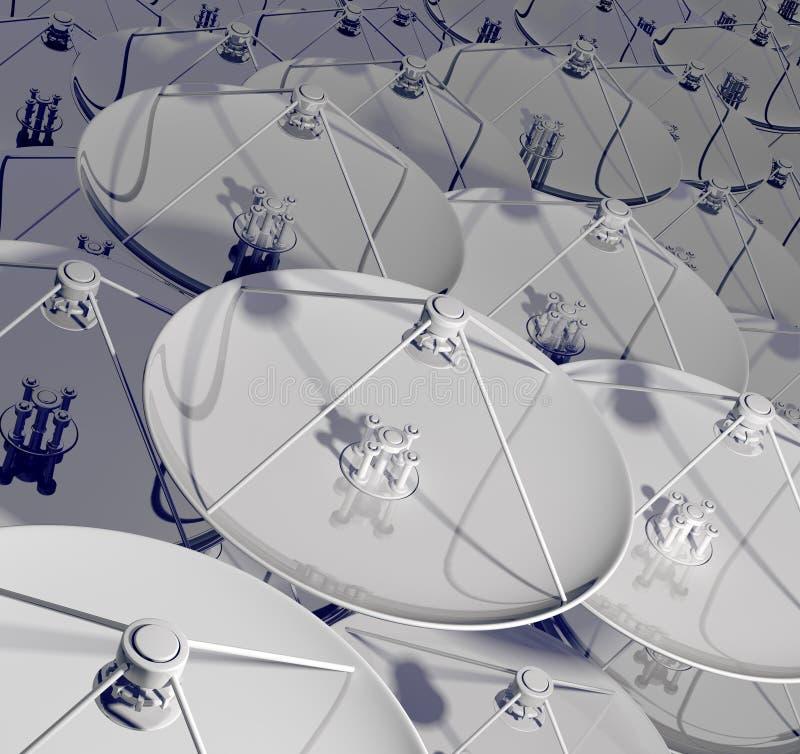 τρισδιάστατος δορυφόρο& ελεύθερη απεικόνιση δικαιώματος