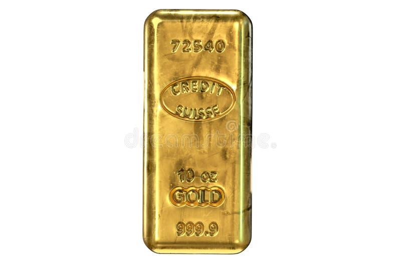 τρισδιάστατος δώστε του χρυσού φραγμού που απομονώνεται στο λευκό διανυσματική απεικόνιση