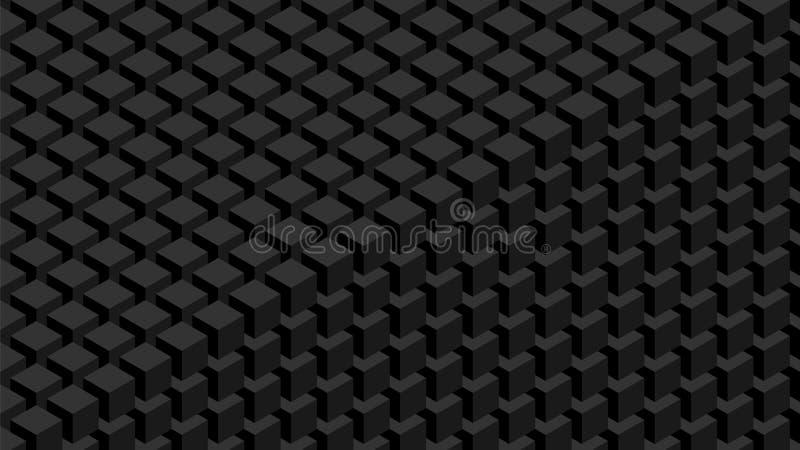 τρισδιάστατος εννοιολογικός μοναδικός τοίχος εικόνας κύβων απεικόνιση αποθεμάτων