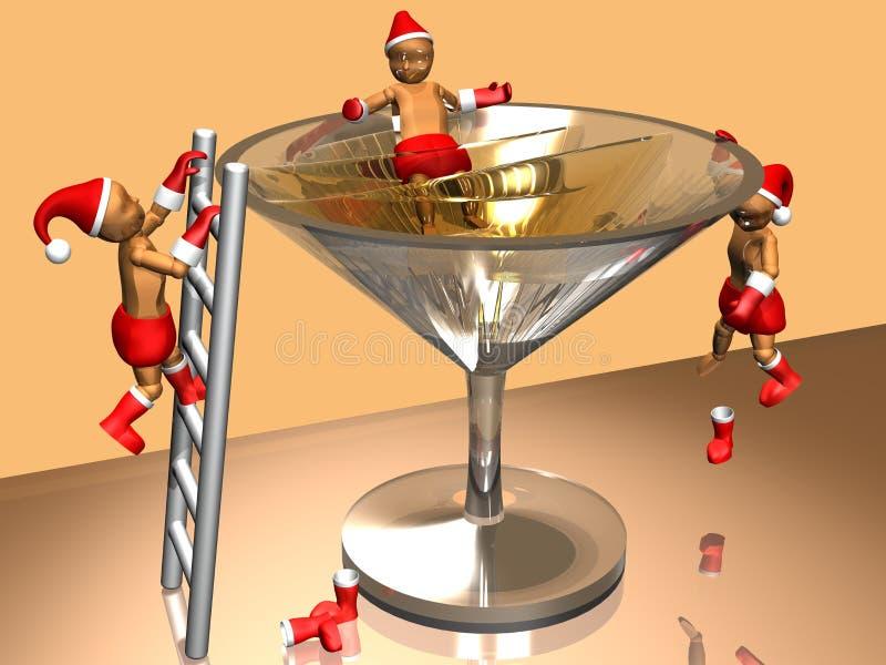 τρισδιάστατος εορτασμός κατσικιών Χριστουγέννων στοκ εικόνες με δικαίωμα ελεύθερης χρήσης