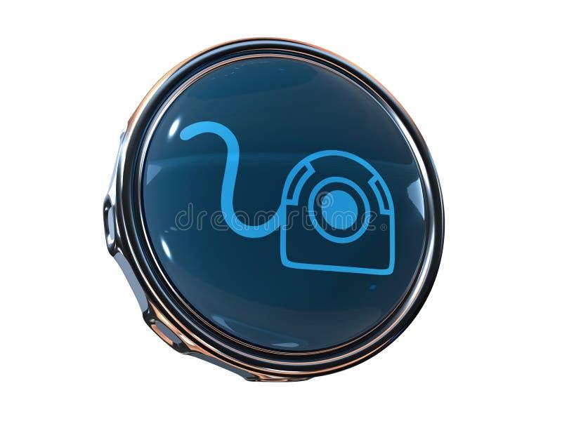τρισδιάστατος Ιστός εικονιδίων φωτογραφικών μηχανών διανυσματική απεικόνιση