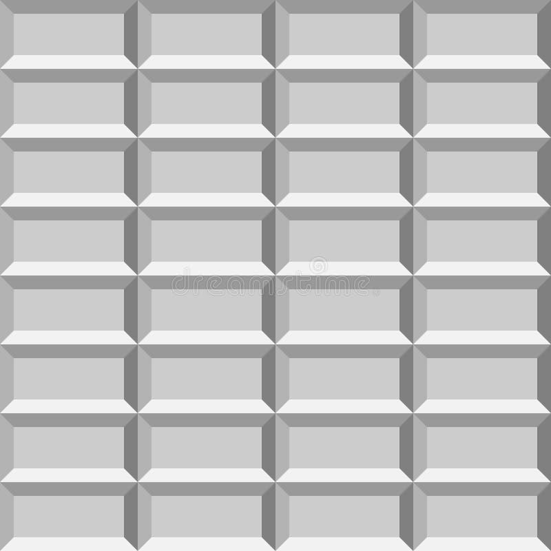 τρισδιάστατος κεραμωμένος φως τοίχος Άνευ ραφής διανυσματικό υπόβαθρο σχεδίων ελεύθερη απεικόνιση δικαιώματος