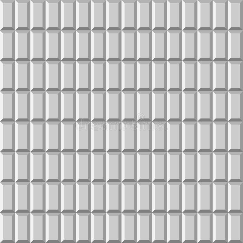τρισδιάστατος κεραμωμένος φως τοίχος Άνευ ραφής διανυσματικό υπόβαθρο σχεδίων διανυσματική απεικόνιση